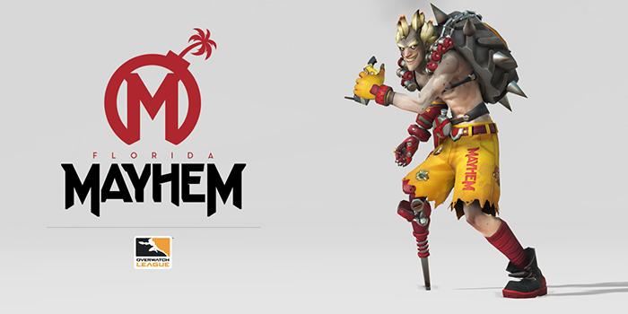 Logo of the Florida mayhem. Returning team in Overwatch League Season 2.