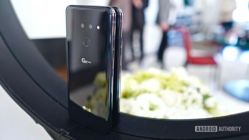 LG G8 ThinQ against mirror