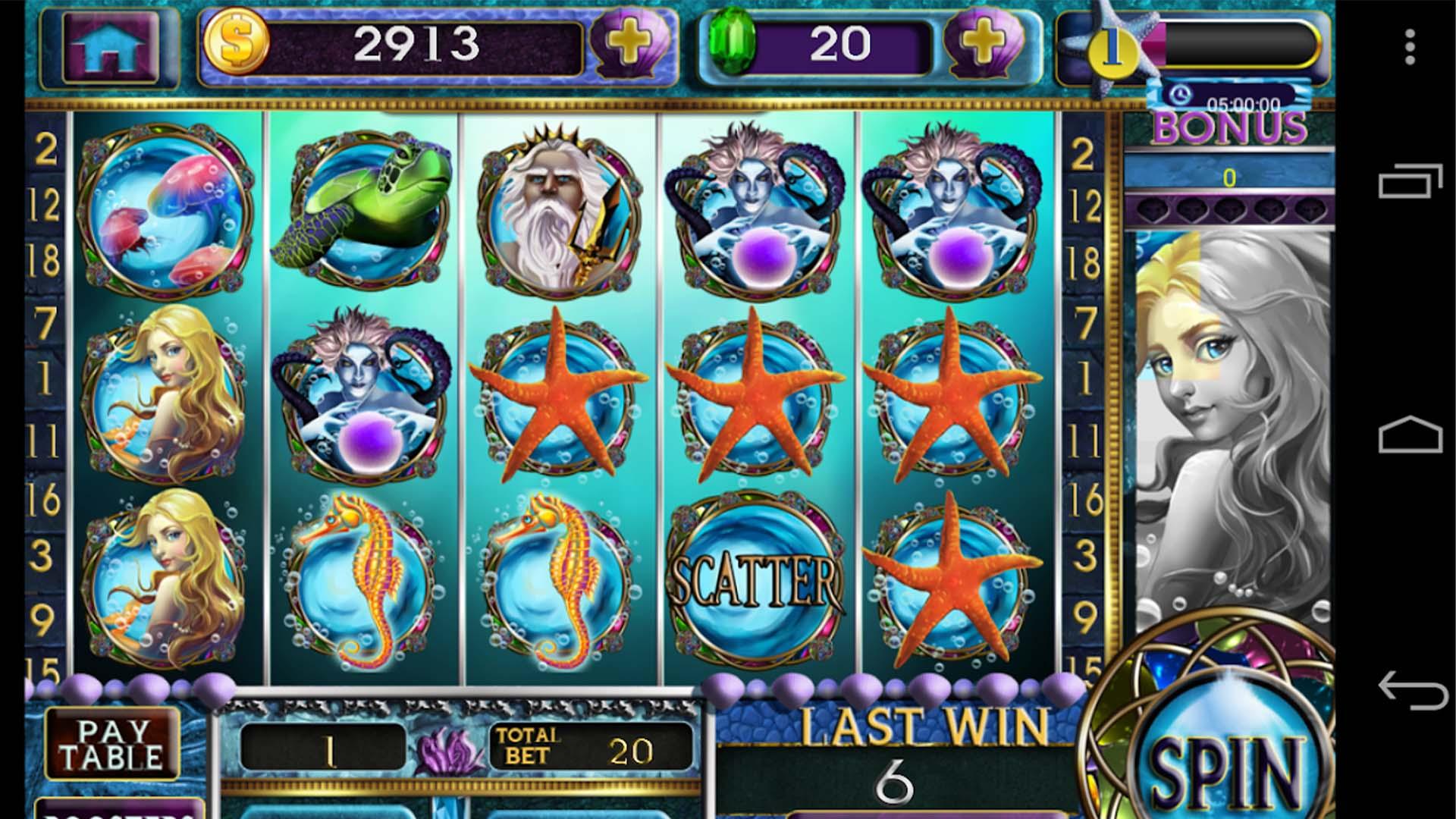 Mermaid Slots Hana Games screenshot