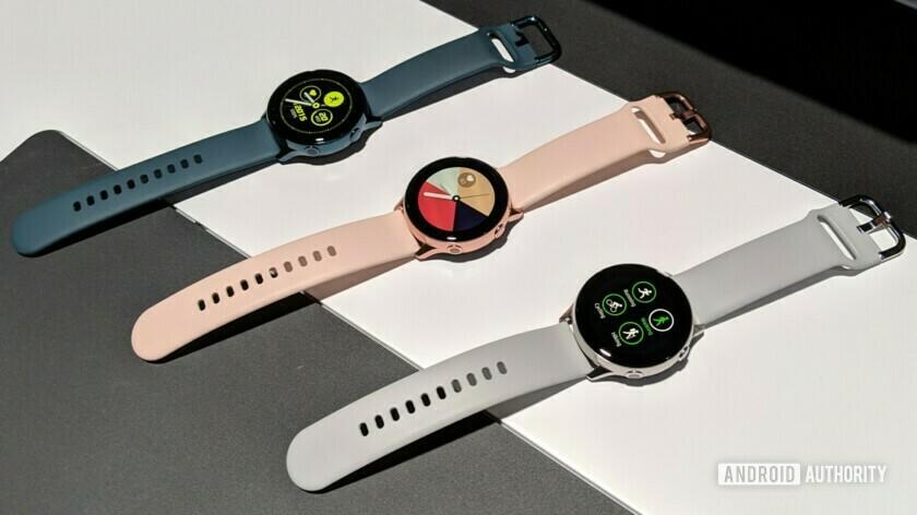 Samsung Galaxy Watch Active, Samsung Galaxy Fit, and Samsung Galaxy Fit e.