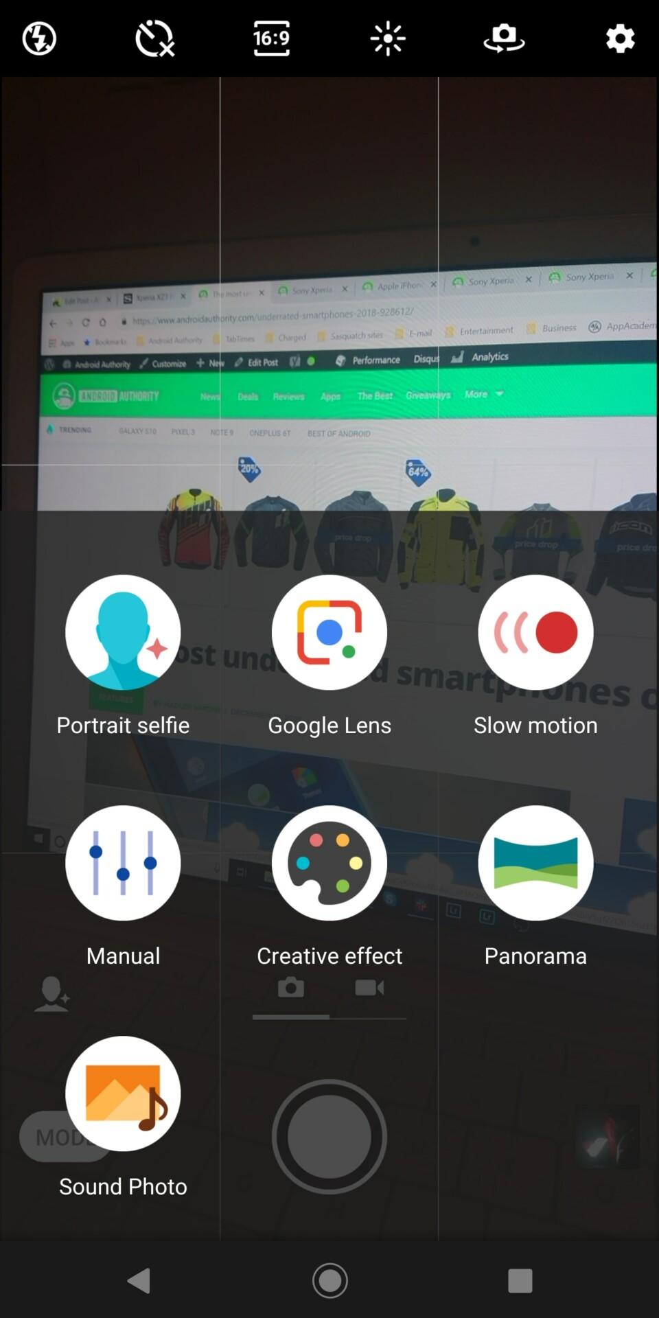 Sony Xperia XZ3 camera app screenshot 4