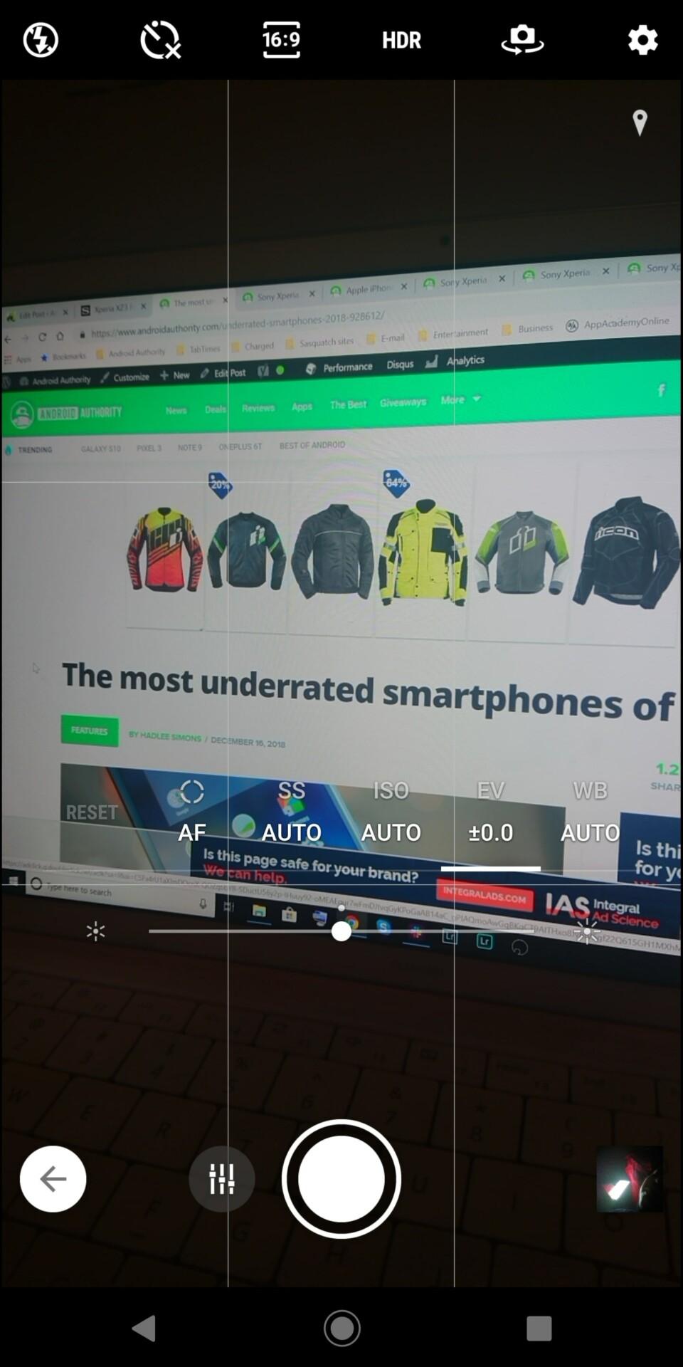Sony Xperia XZ3 camera app screenshot 2