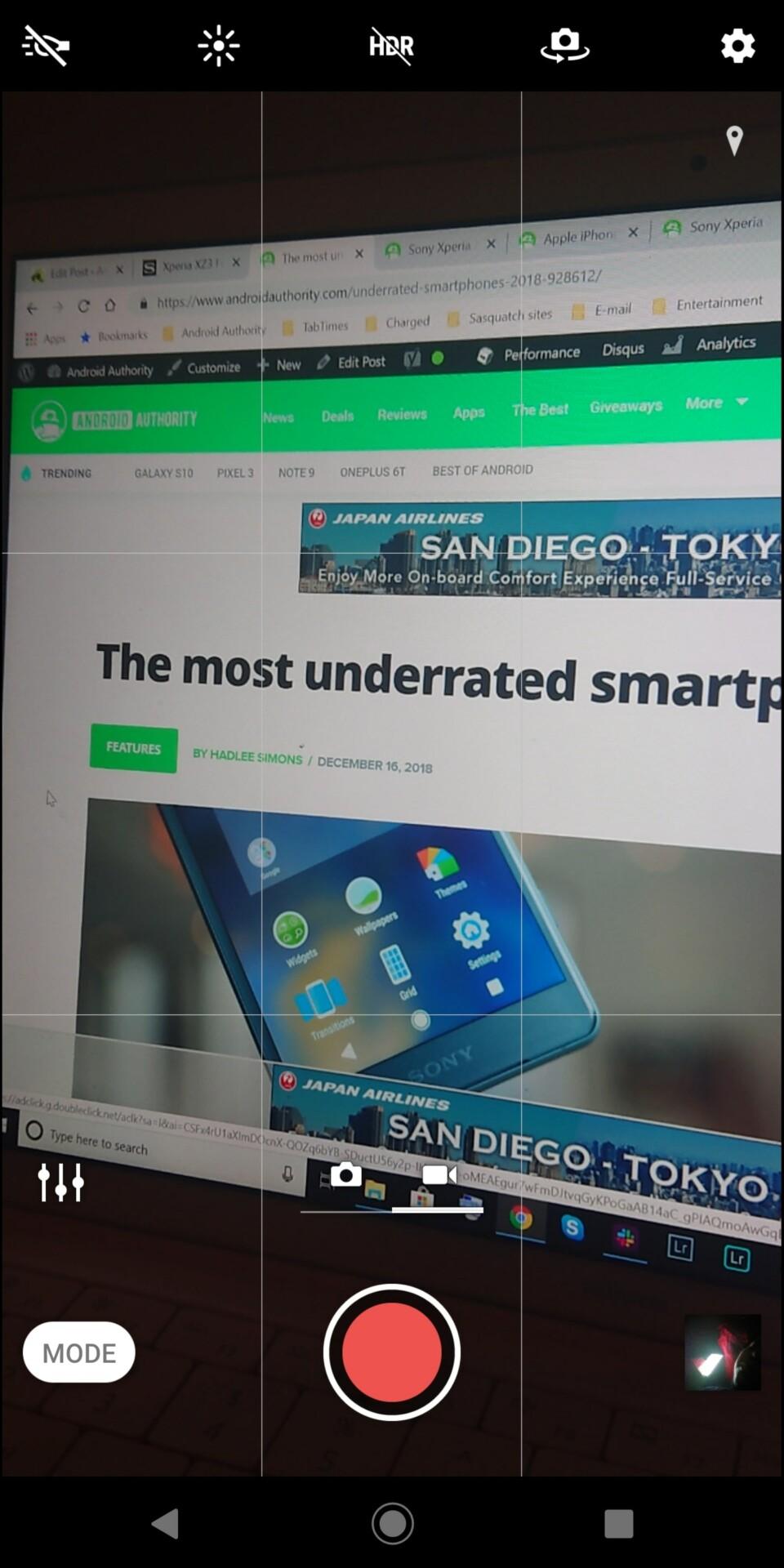 Sony Xperia XZ3 camera app screenshot 3
