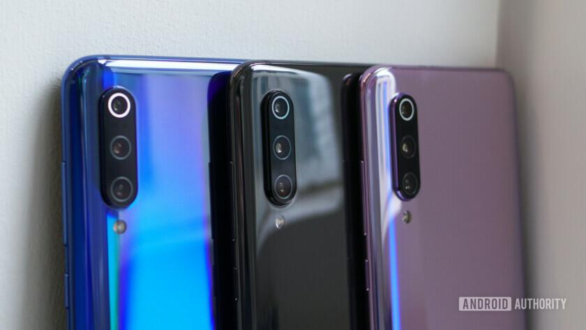 Xiaomi Mi 9 blue, black, purple