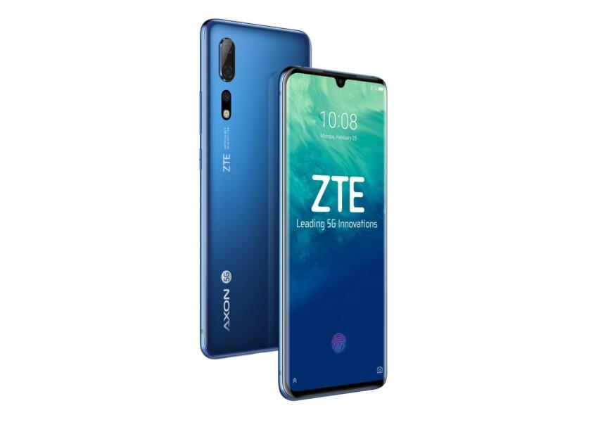 ZTE Axon 10 Pro renders in blue.