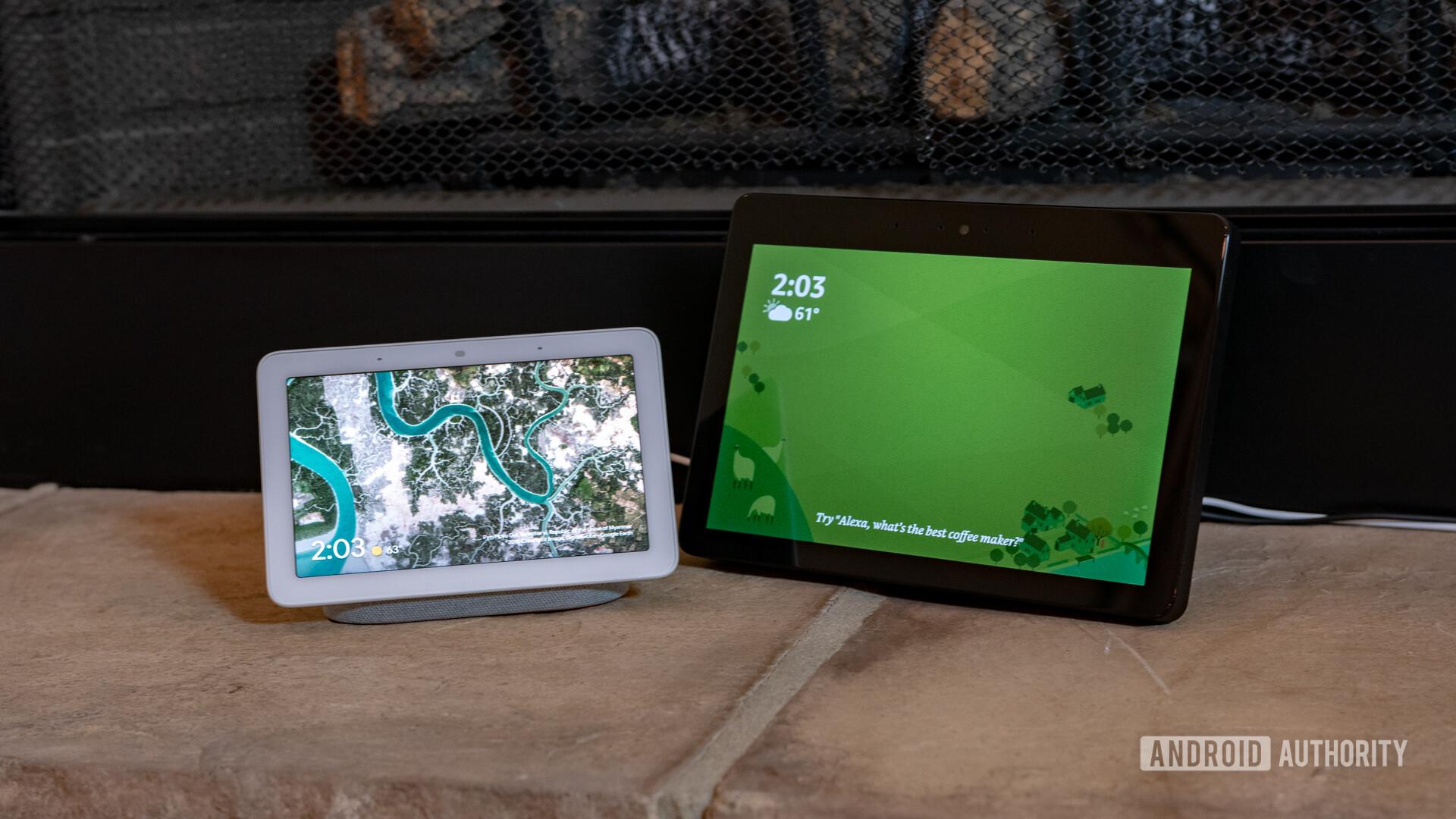 Google Home Hub vs Amazon Echo Show 2