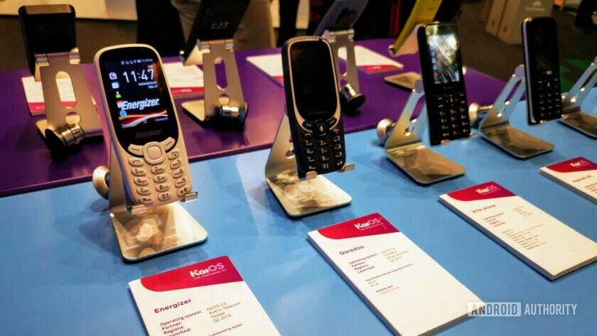 KaiOS phones at MWC 2019.