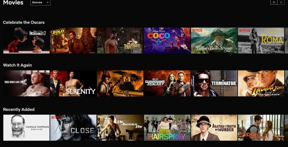 Liste Filme Netflix
