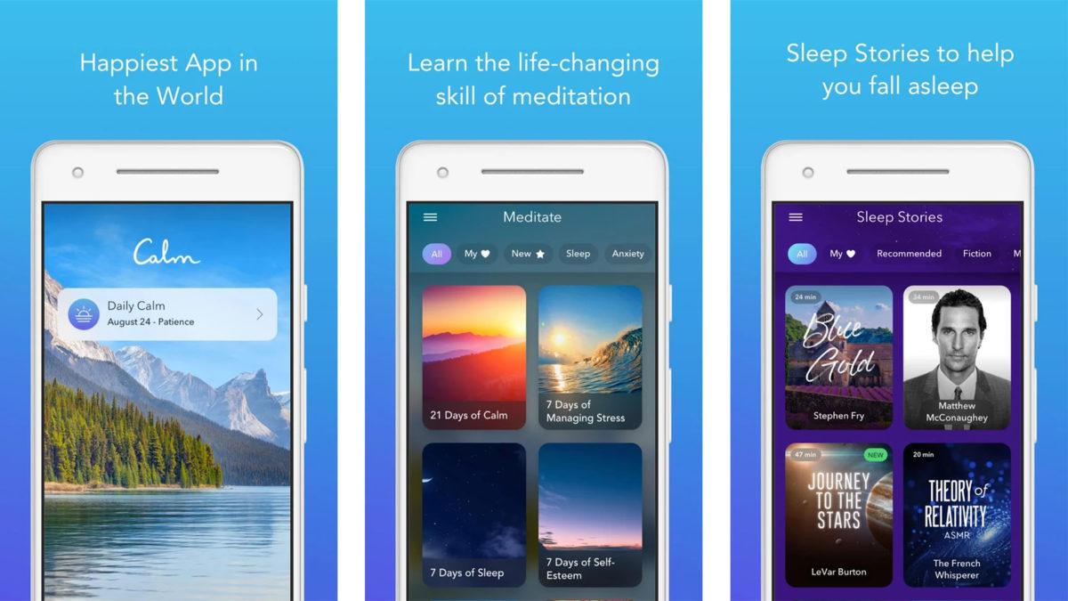 Calm screenshot 2019 for the best meditation apps list
