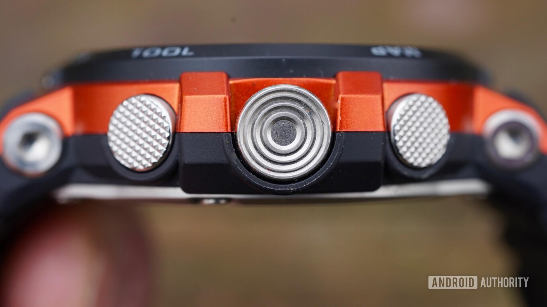 Casio Pro Trek WSD-F30 buttons closeup