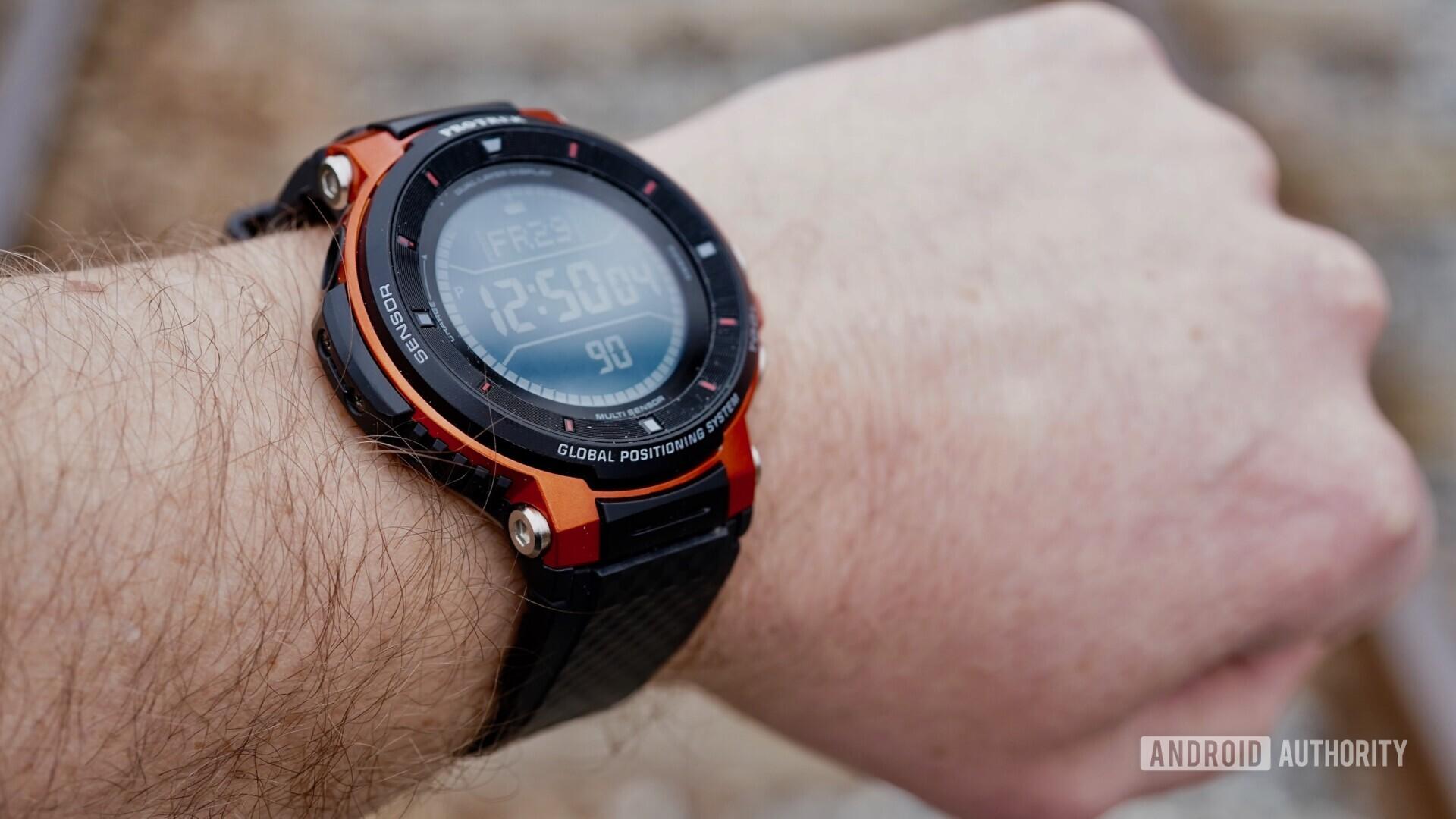 Casio Pro Trek WSD-F30 on wrist