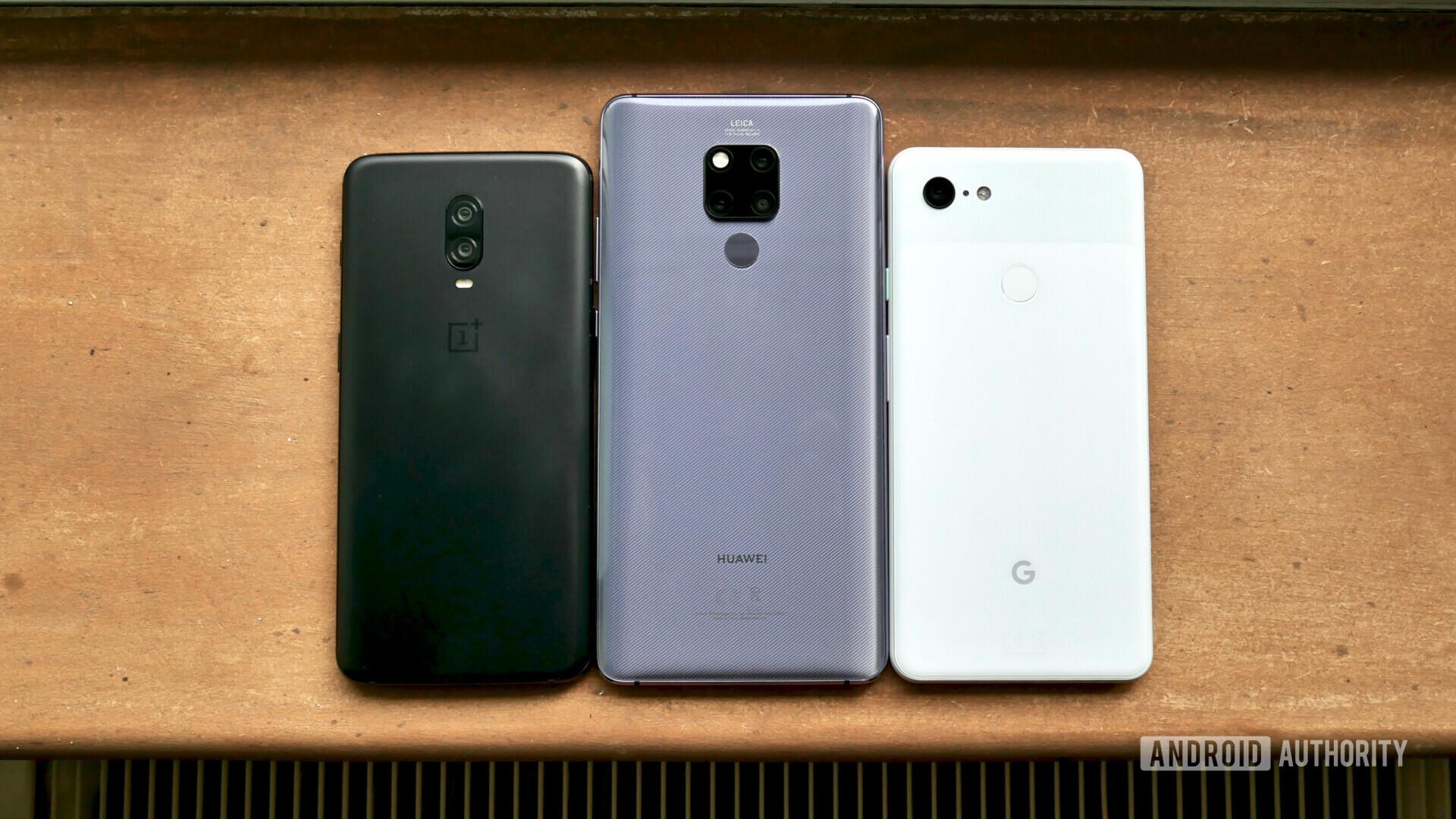 Huawei Mate 20 X vs OnePlus 6T vs Google Pixel 3 XL