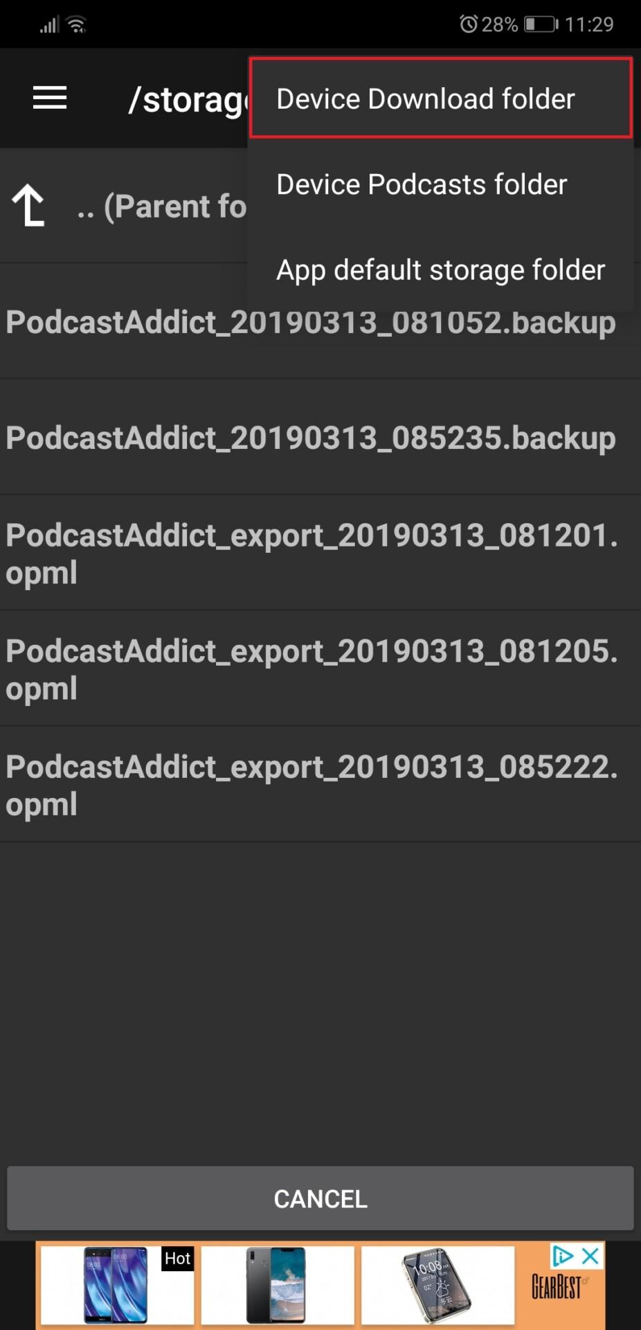 Podcast Addict screenshot