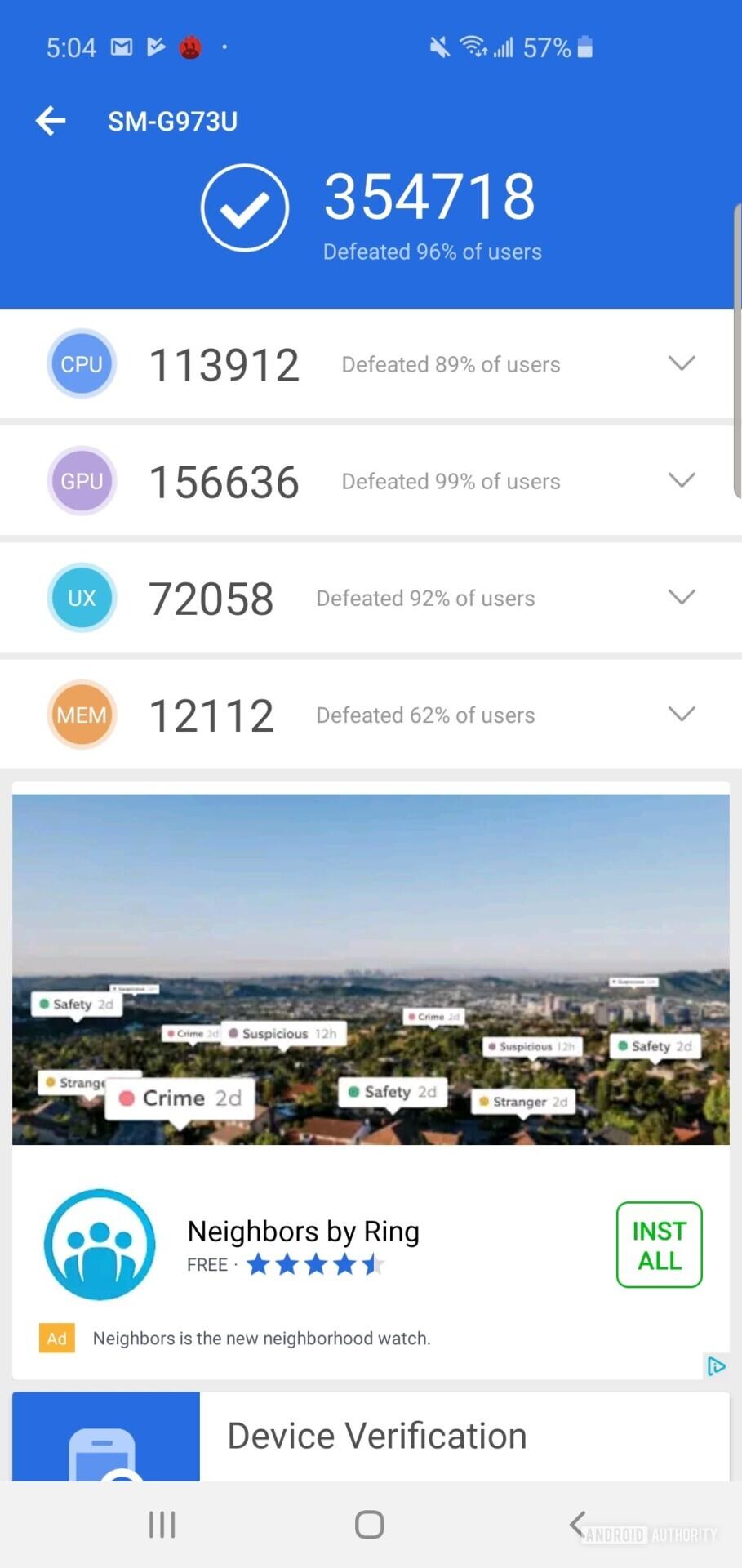 Samsung Galaxy S10 Benchmark AnTuTu Benchmark 1