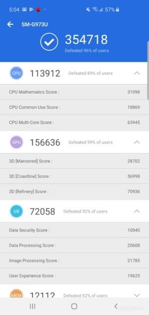 Samsung Galaxy S10 Benchmark AnTuTu Benchmark 2