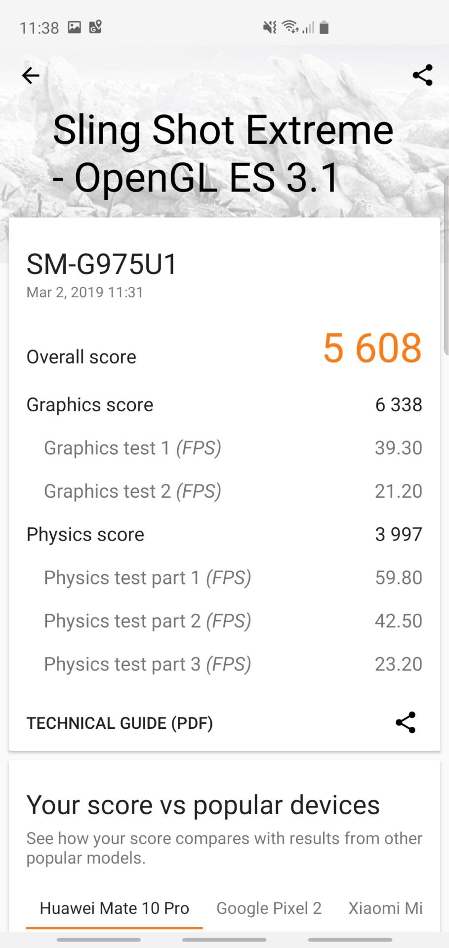 Samsung Galaxy S10 Plus 3DMark Benchmark