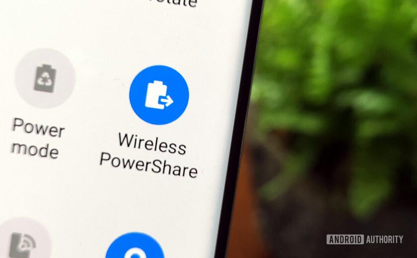 Samsung Galaxy S10 Wireless PowerShare Menu Button