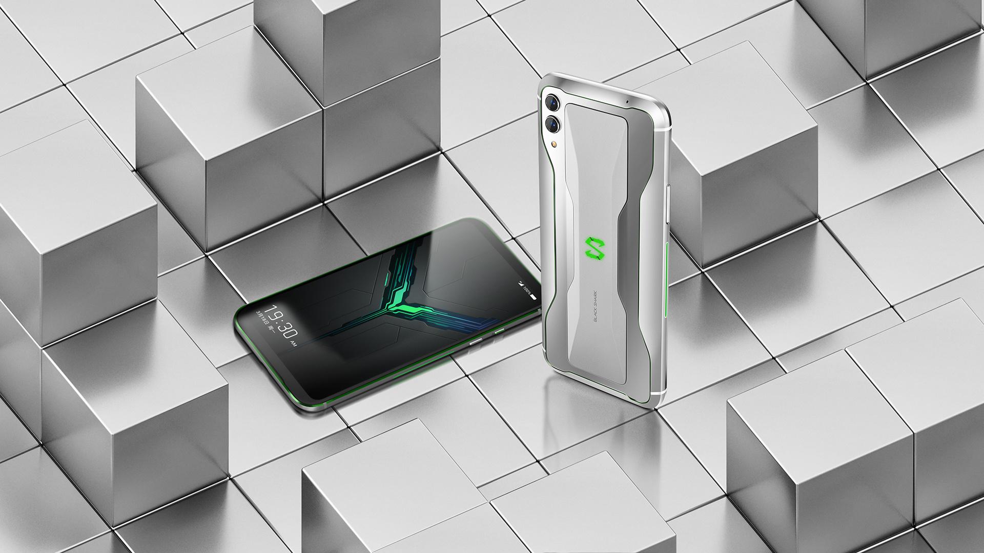 Black Shark 2 phone design render on white background.