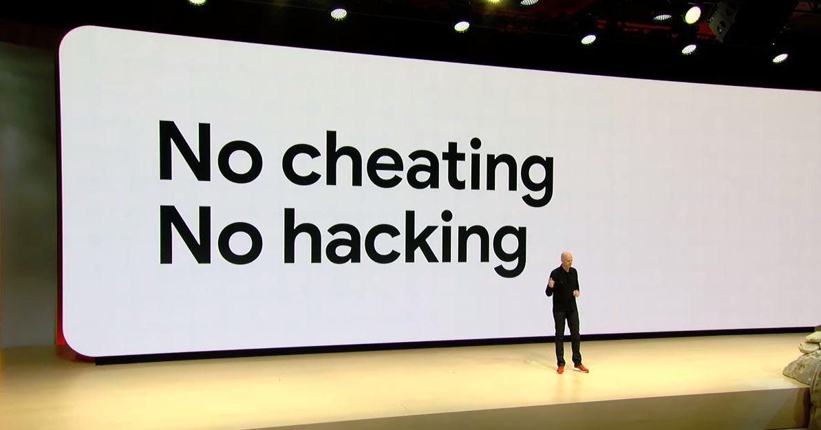 Google Stadia - No cheating , no hacking banner