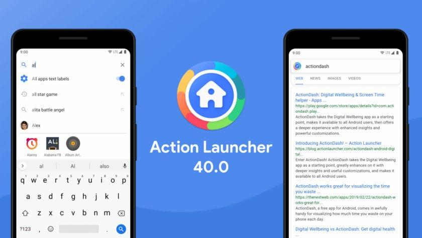 Screenshot of Action Launcher version 40.