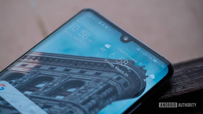 Huawei P30 Pro selfie notch