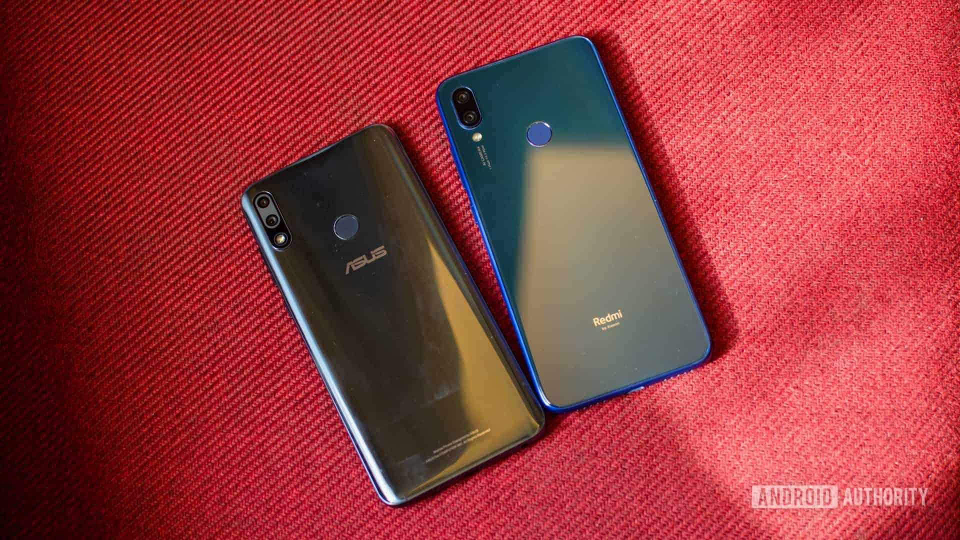 Redmi Note 7 vs Asus Zenfone Max Pro M2 back of the phone