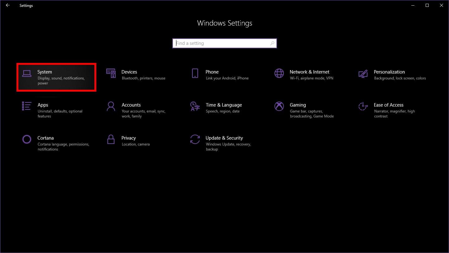Windows 10 Access System