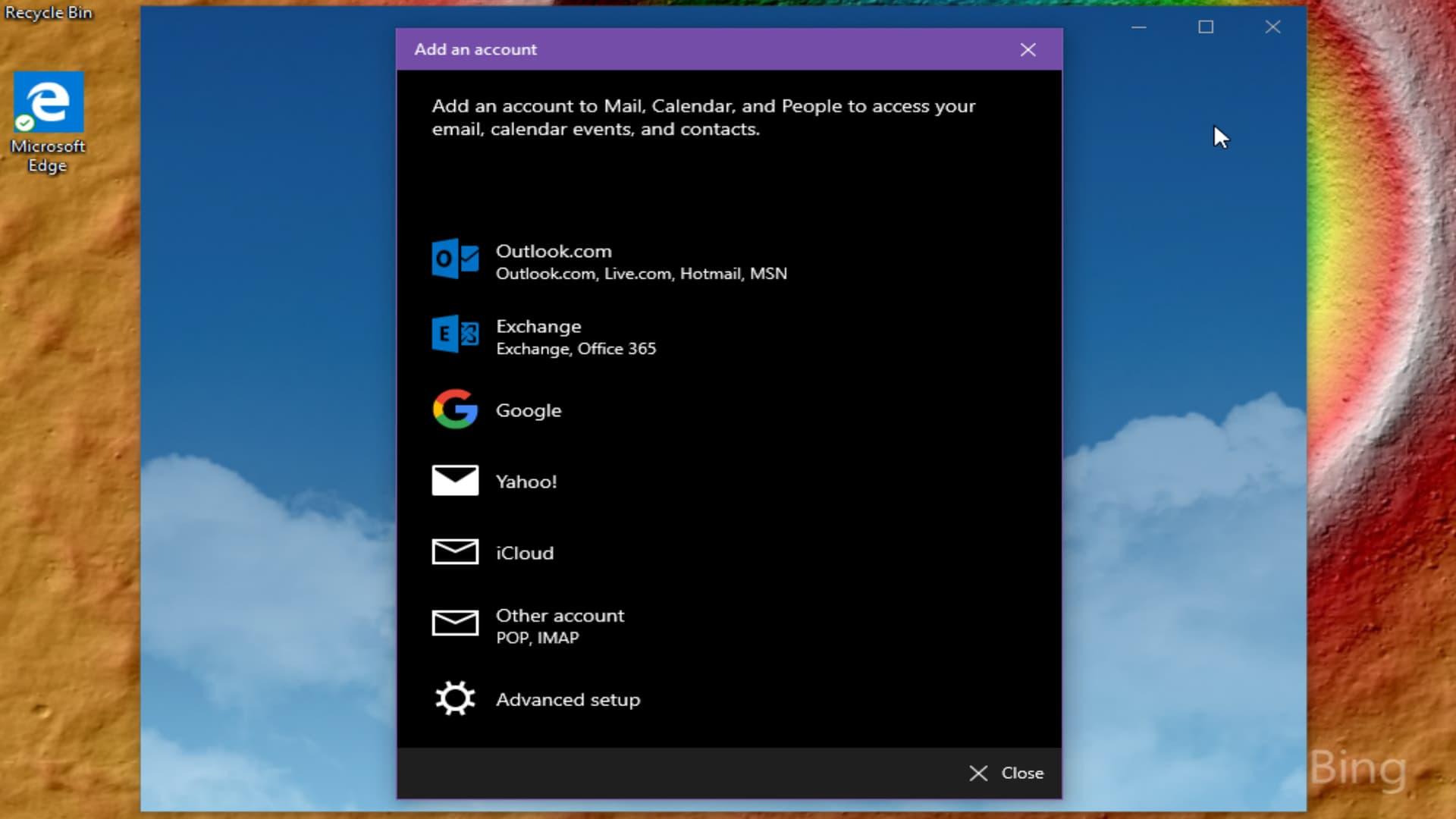 Windows 10 Mail Add Account