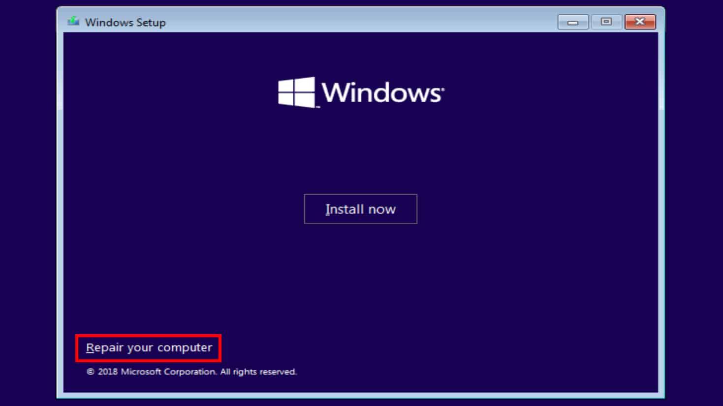Windows 10 repair your computer