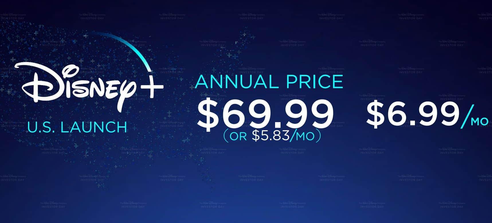 Disney Plus video streaming - Price