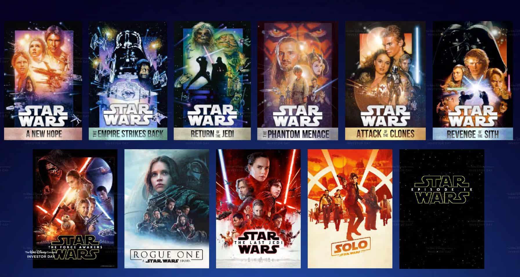 Disney Plus Star wars movies
