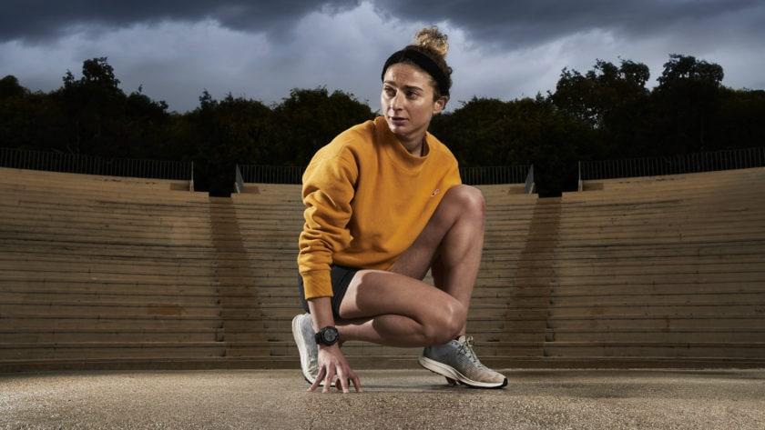 garmin forerunner new gps running watch on wrist promo image