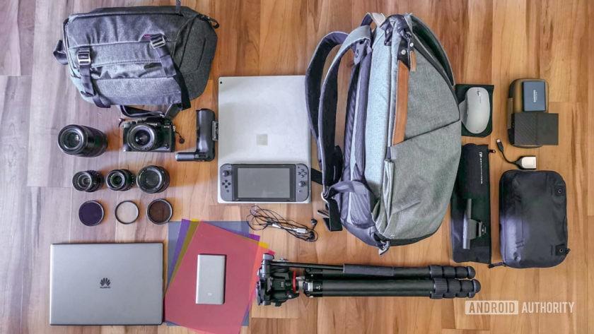 David Imel IO19 gear - everything spread out