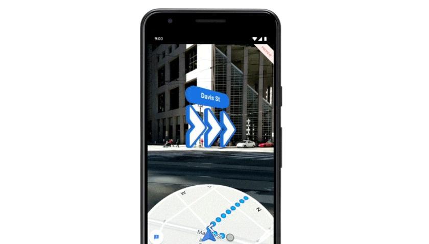 Google Maps AR Navigation.