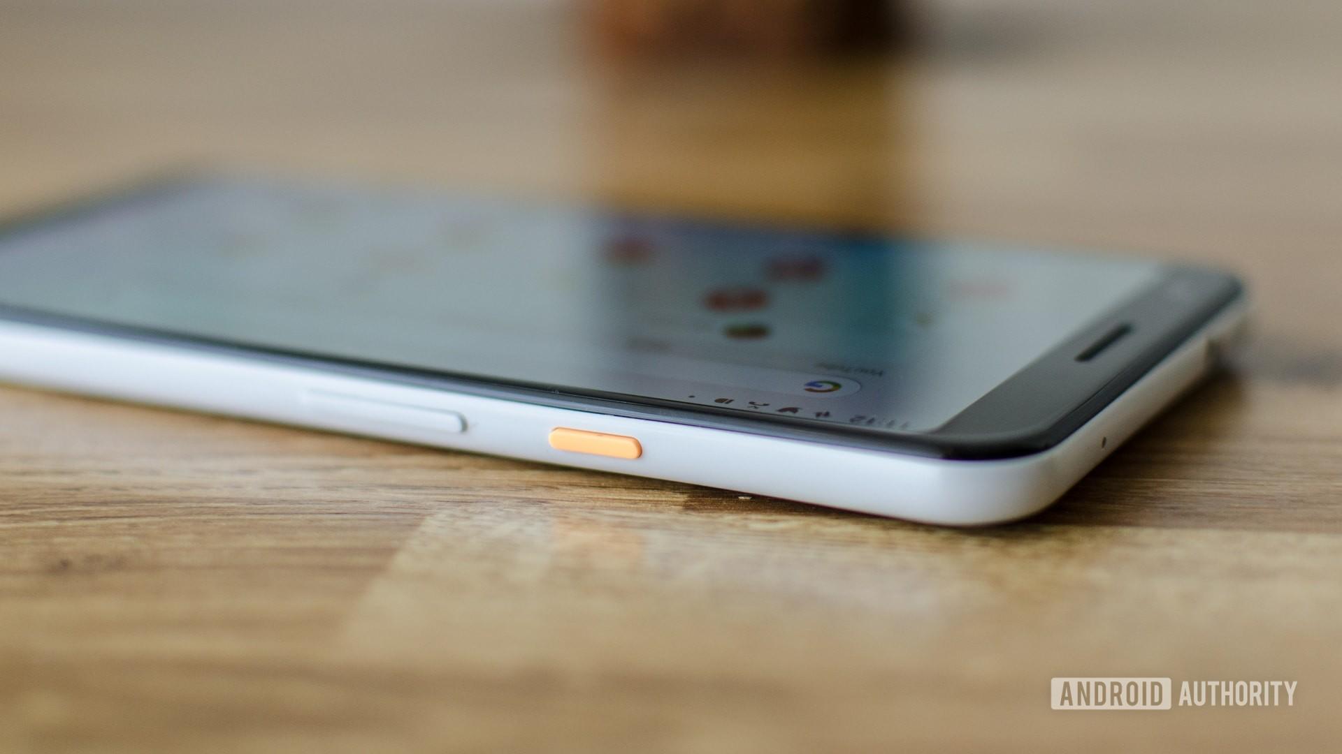 Google Pixel 3a XL side power button orange