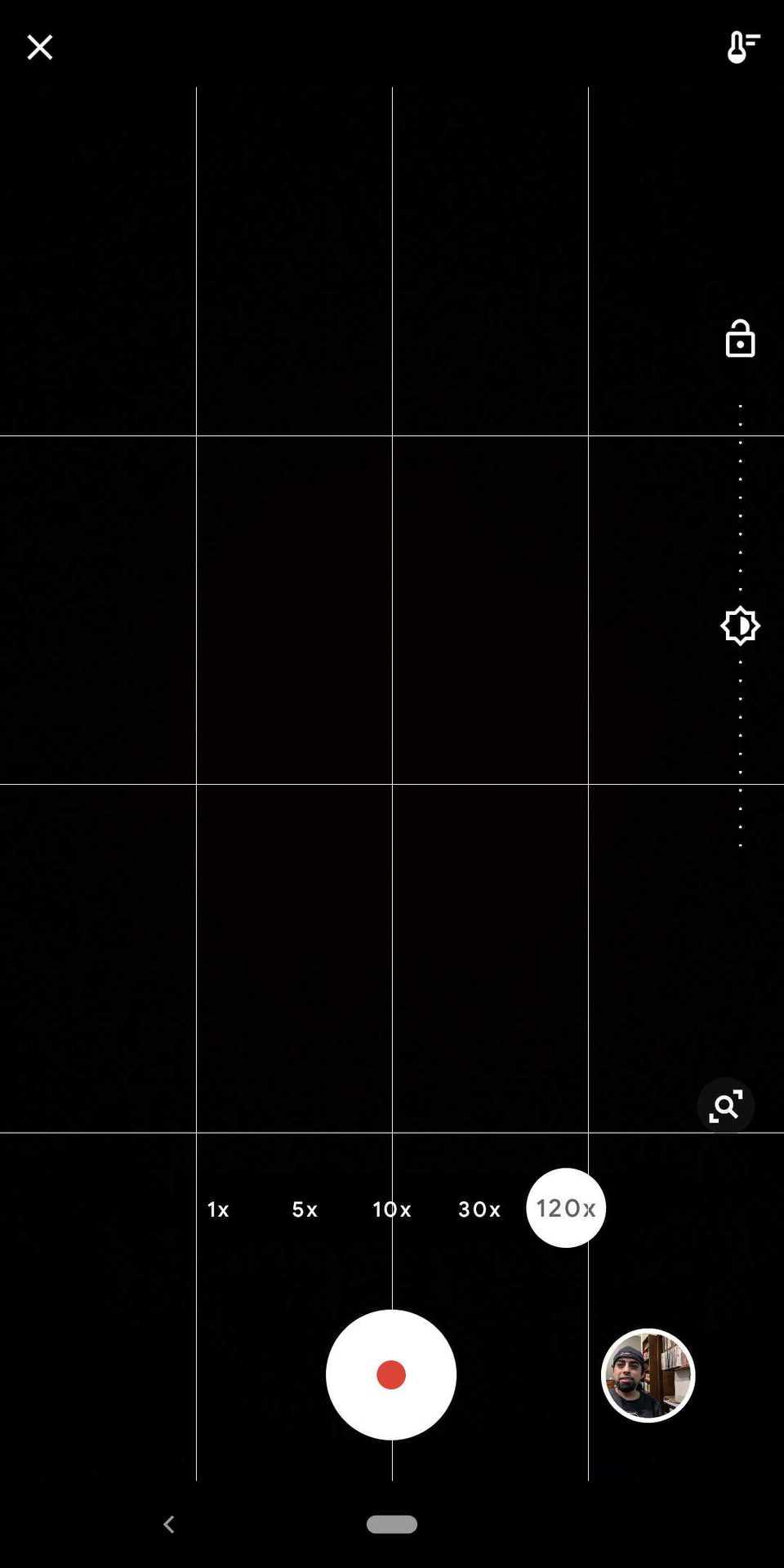 Screenshot of Time Lapse on Google Pixel phones 3