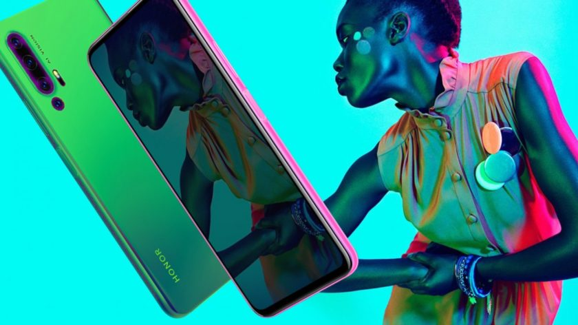 A leaked promotional image of the Honor 20 Pro.
