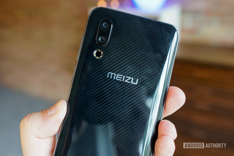 Meizu 16s rear, showing fingerprints