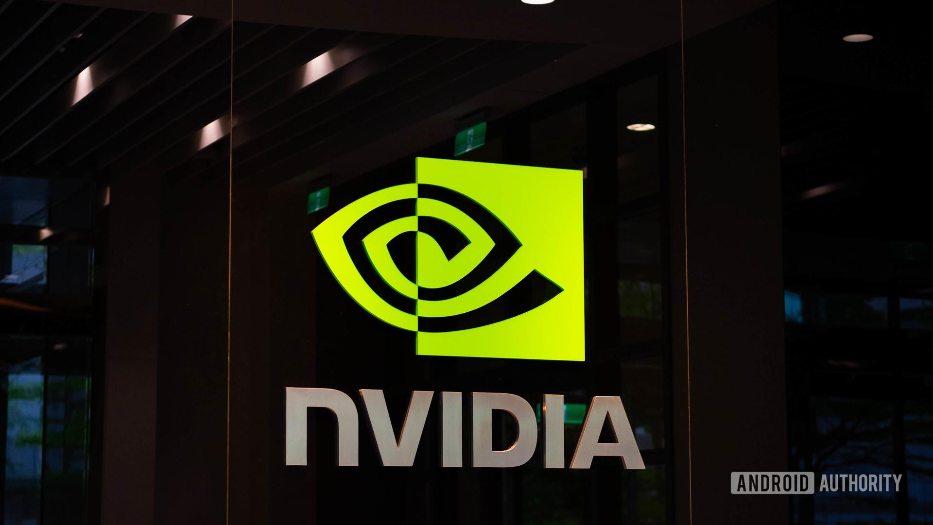 NVIDIA Logo inside at angle