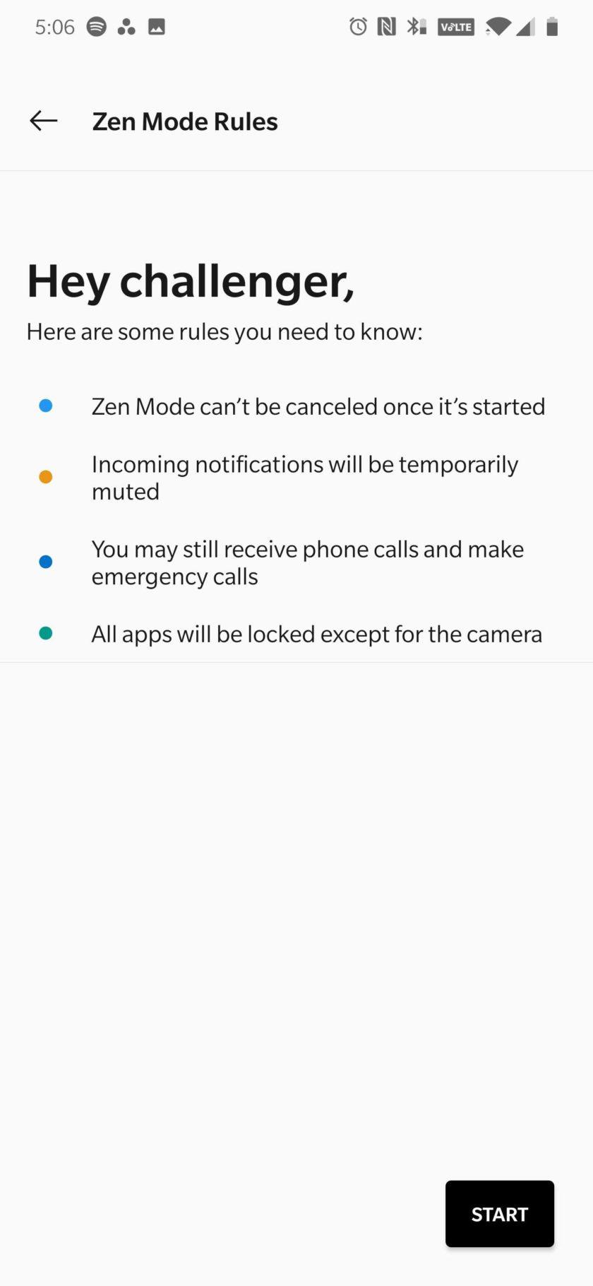 OnePlus 7 Pro Zen Mode