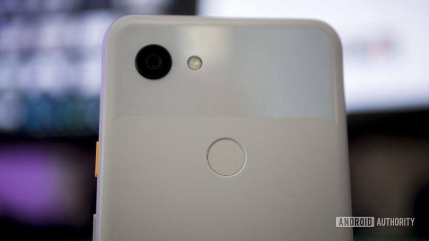 Fingerprint Sensor and Rear Camera Closeup