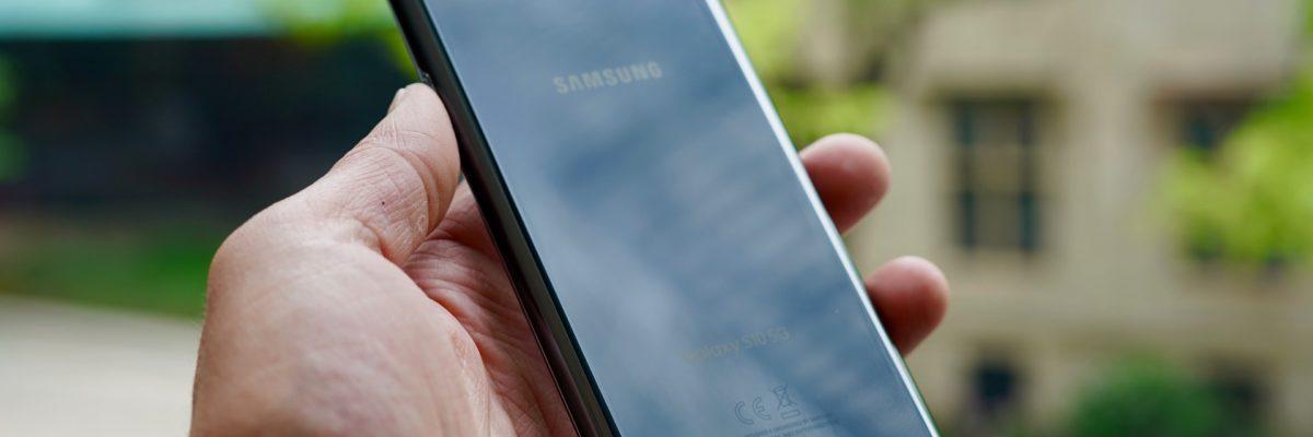 Samsung Galaxy S10 5G Verizon Wireless left rear profile