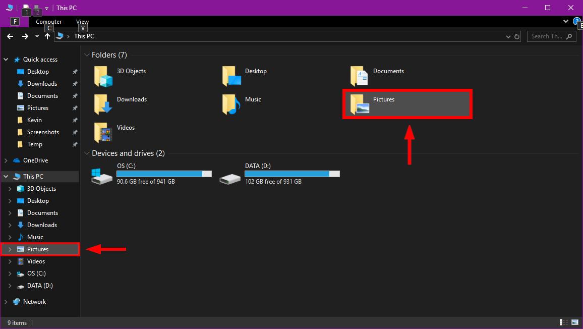 Windows 10 Pictures Folder