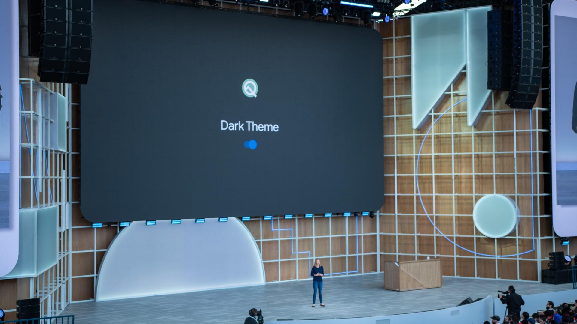 Google I/O 2019 Android Q Dark Theme