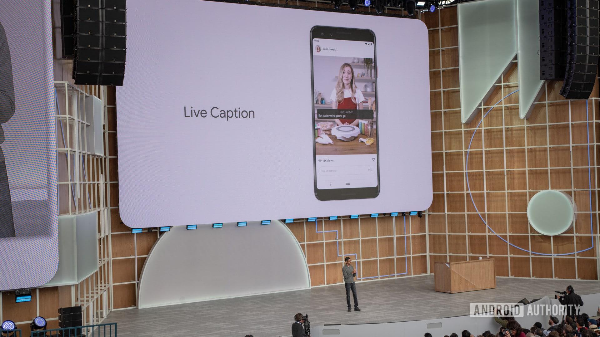 Google I/O 2019 Live Caption