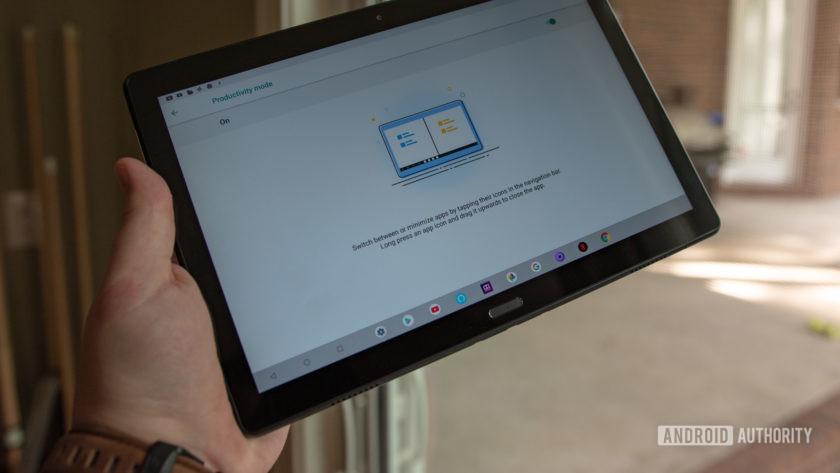 Lenovo Smart Tab P10 Productivity Mode