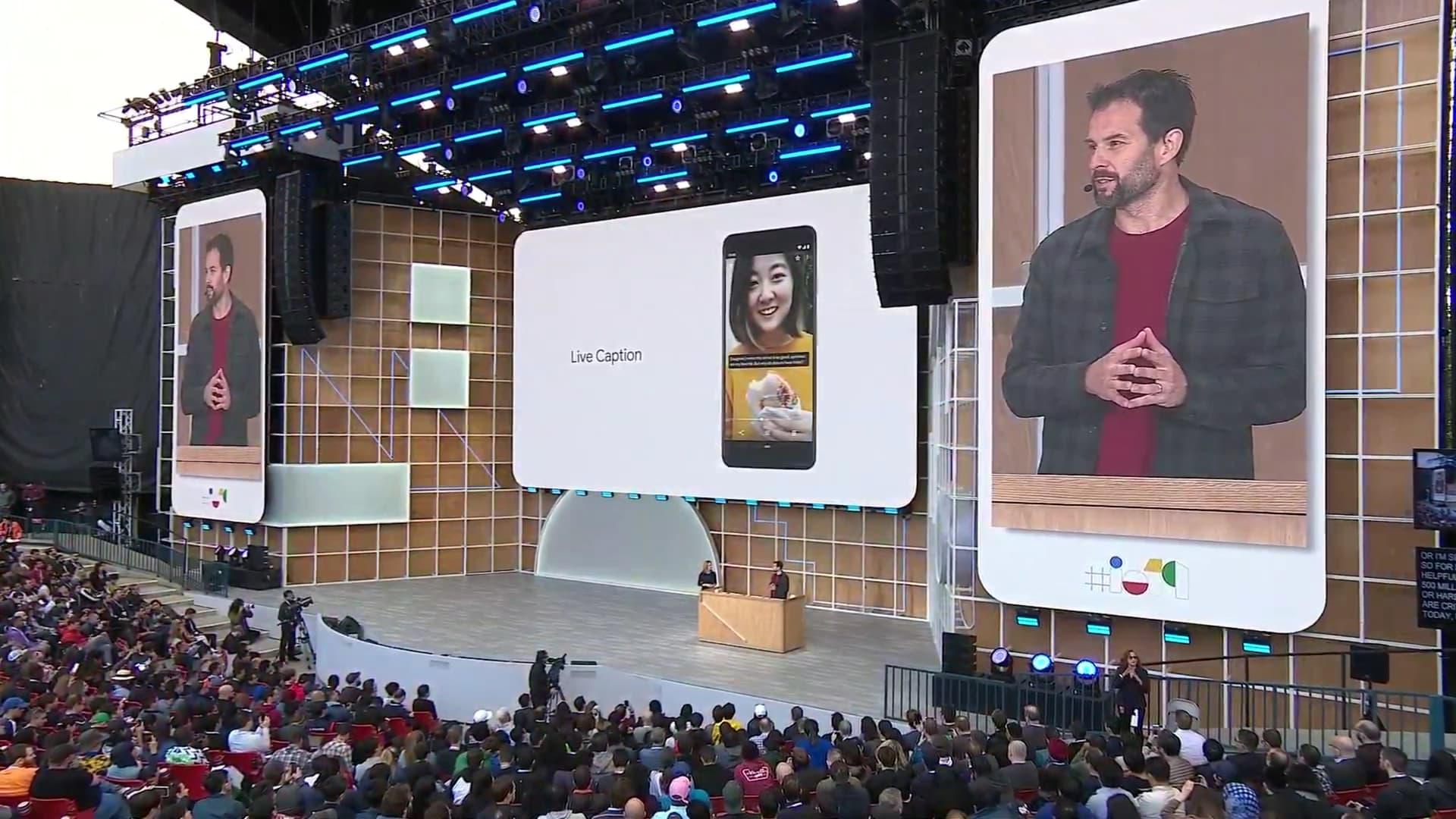 Live caption - Google I/O 2019