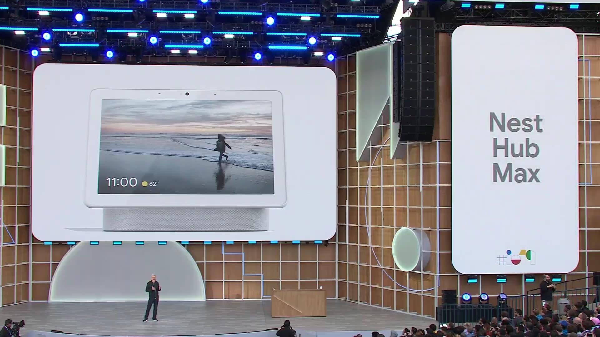 Google IO 2019 Rick Osterloh Nest Hub Max
