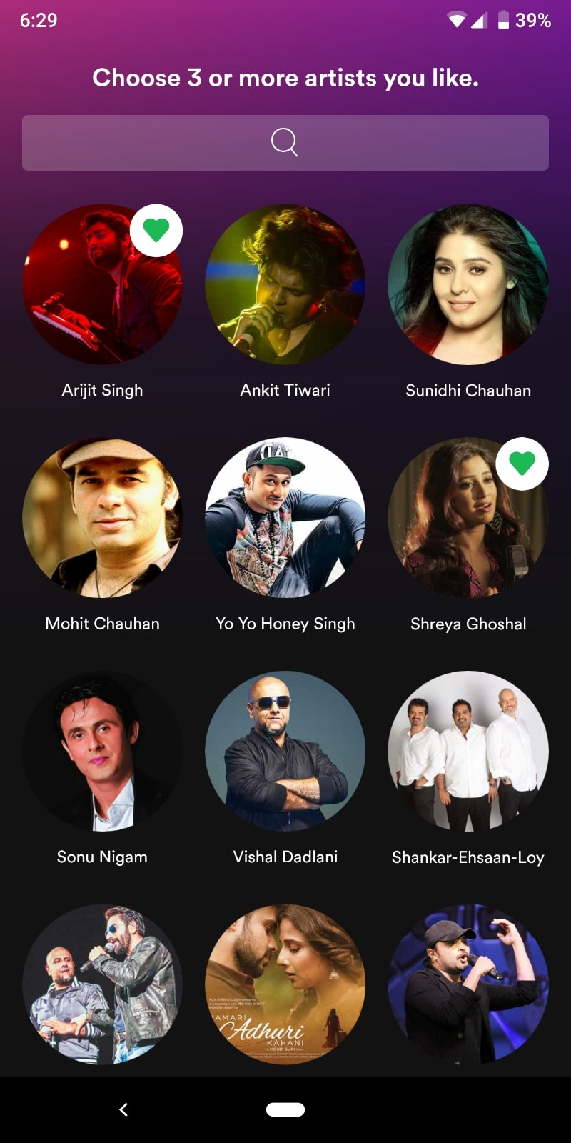 spotify india select artists