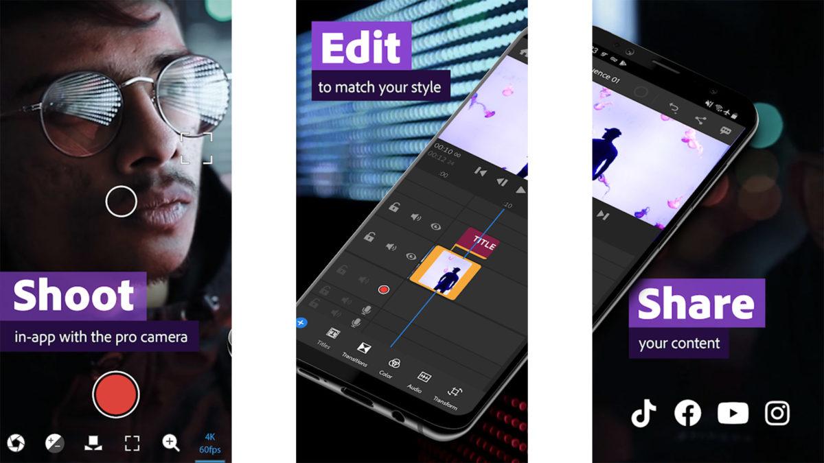 Adobe Premiere Rush screenshot 2020